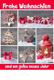 """Faltkarte """"Frohe Weihnachten und gutes Neues"""""""