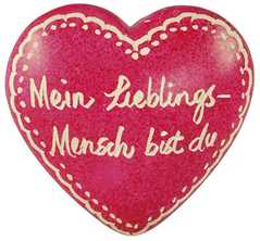 Handschmeichler: Lieblings-Mensch - rosa