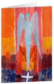 """Kunstkarten """"Lichtblauer Wächter"""" - 5 Stk."""