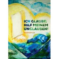 """Jahreslosung 2020 - Motiv """"Tür mit Herzen"""" Postkarte 10 Stk."""