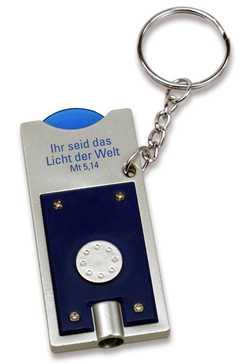 Schlüsselanhänger LED - Licht - blau