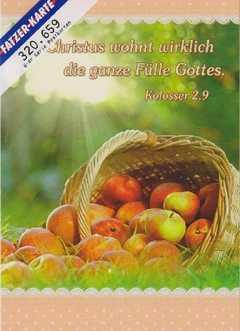 Postkarten Körbe mit Blumen und Früchten - 6 Stück