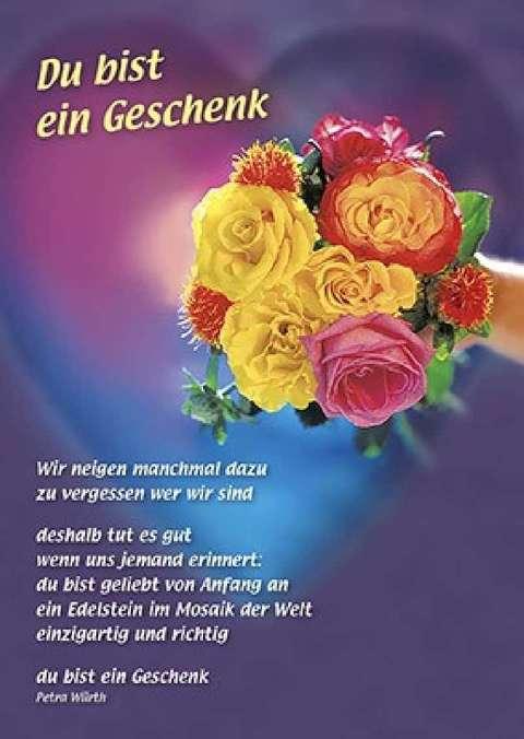 Postkarten Du Bist Ein Geschenk 12 Stück