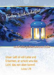 Postkarten Weihnachten/Neujahr Laternen, 6 Stück