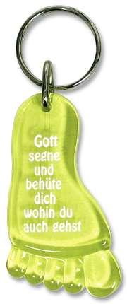 """Schlüsselanhänger """"Fuß"""" - gelb"""