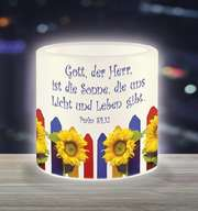 LED-Kerze: Gott, der Herr, ist die Sonne - klein